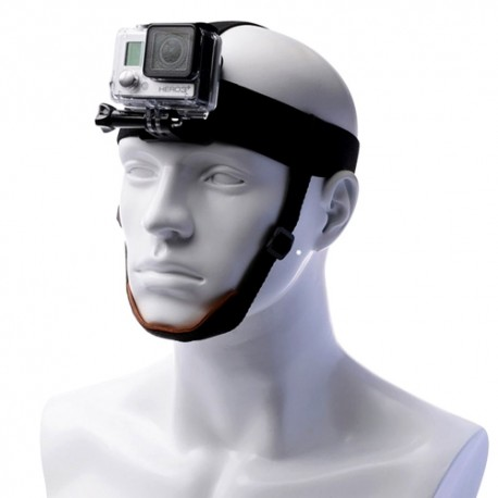 GoPro kameros laikiklis ant galvos su smakro dirželiu