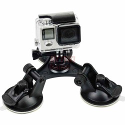 Trigubas vakuminis GoPro laikiklis